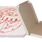 Krabice nad pizzu